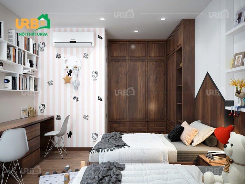 Tủ áo gỗ tự nhiên Óc Chó mã 1205