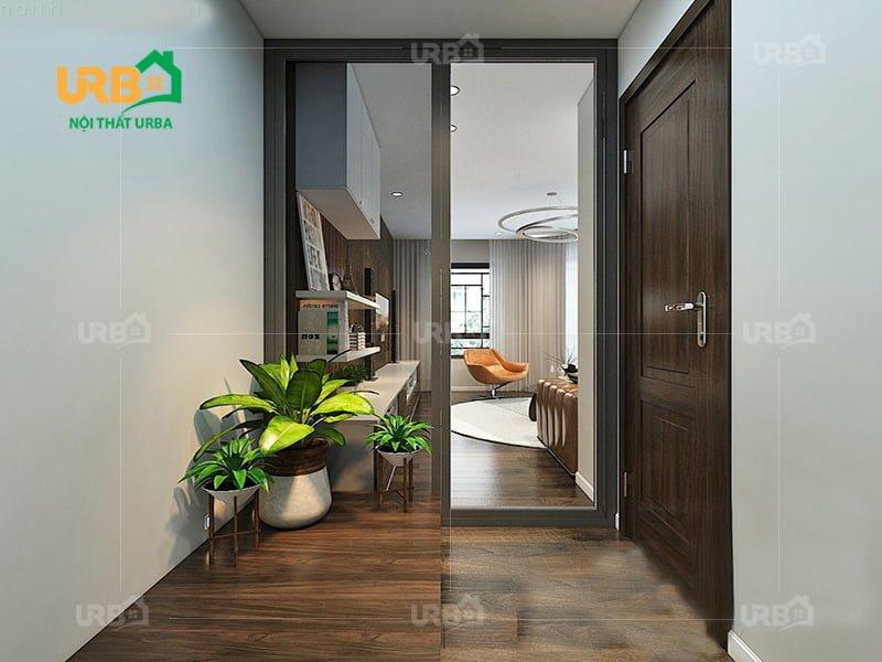 Không rời mắt với thiết kế nội thất phòng khách hướng thiên nhiên 5