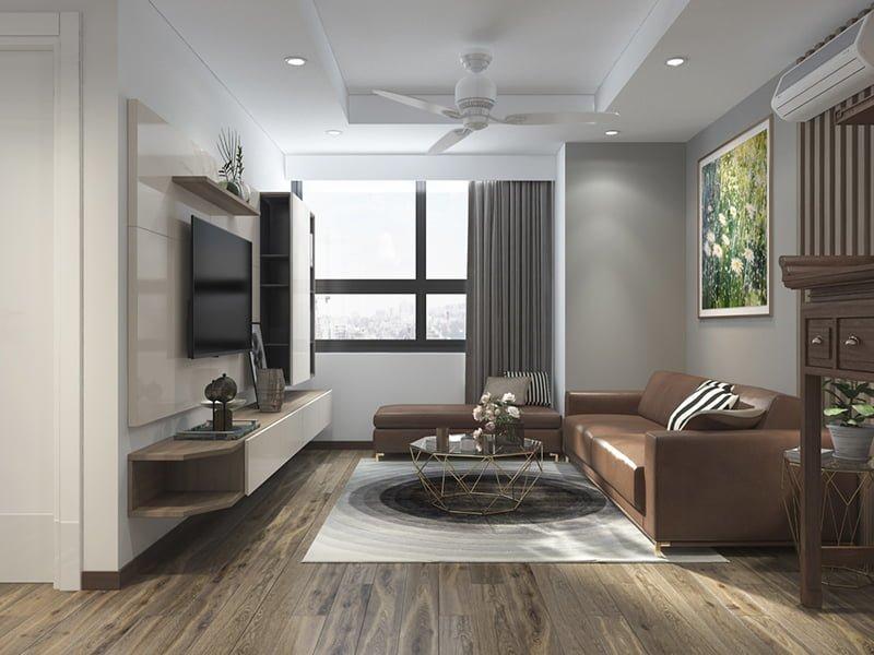 Một số ý tưởng thiết kế nội thất phòng khách chung cư hiện đại4