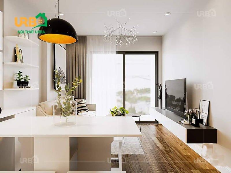 Một số ý tưởng thiết kế nội thất phòng khách chung cư hiện đại2
