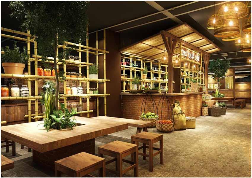 Thiết kế nội thất cửa hàng phong cách đồng quê- Xu hướng mới2