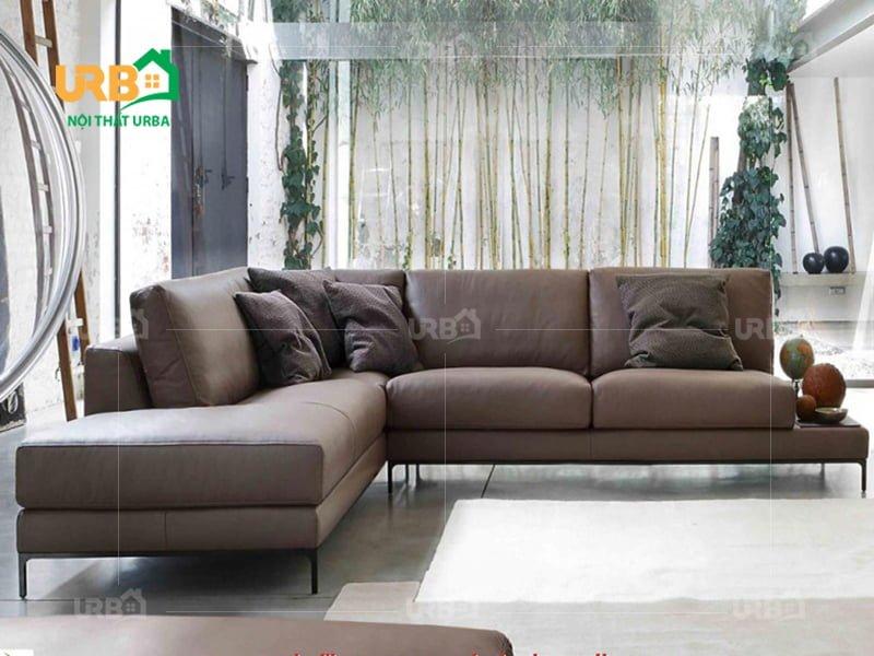 sofa da phong cách hiện đại