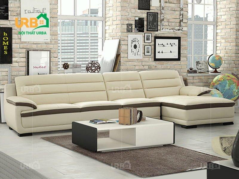 Bộ sofa da cao cấp màu trắng