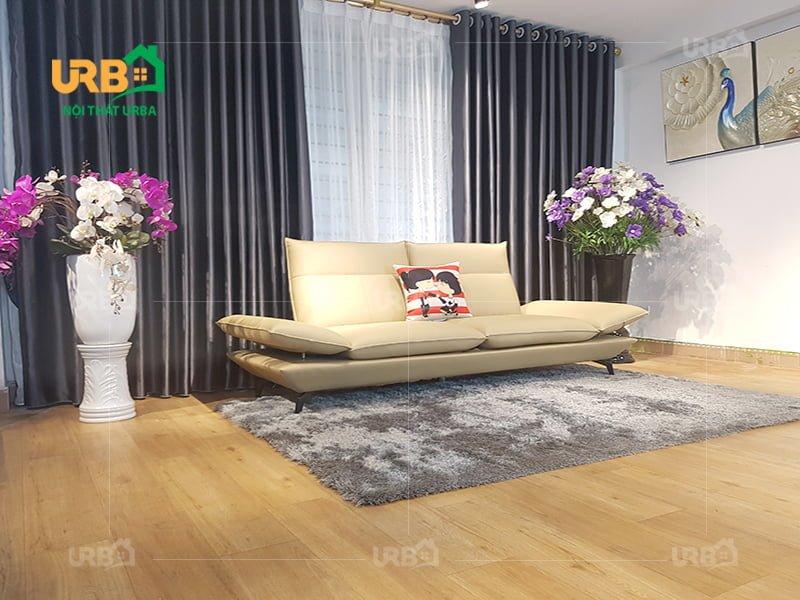 Sofa kiểu dáng văng cho phòng khách nhỏ