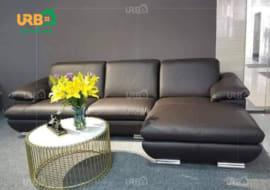 Ghế sofa chân inox sáng bóng, hiện đại