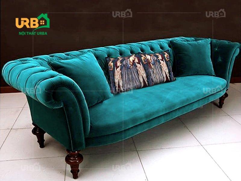 Ghế sofa bọc nhung mang phong cách mới cho phòng khách. 4