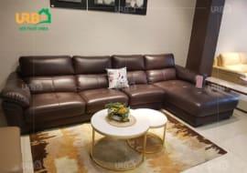 Bàn trà tròn kết hợp với sofa