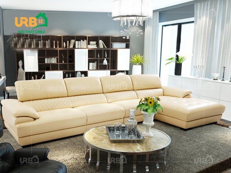 phòng khách đẹp hơn với Sofa da mã 5032 tại địa chỉ bán sofa uy tín như urba