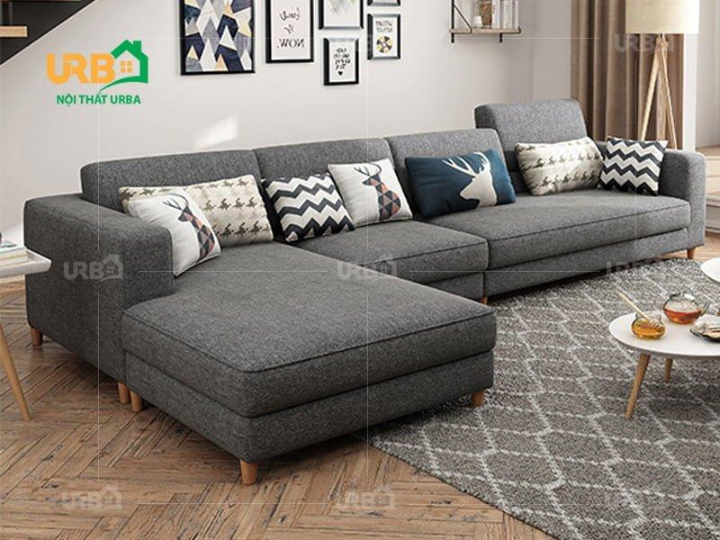 Sofa góc vải nỉ mã 4014