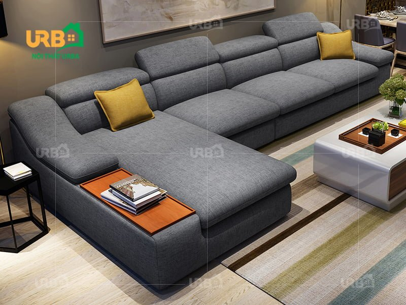 Sofa góc vải nỉ Nội Thất Urba 4