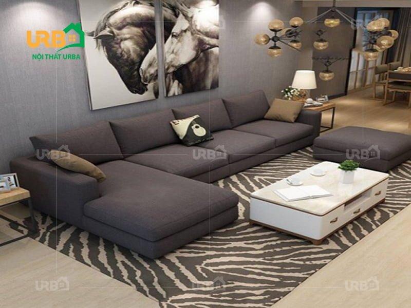 Sofa góc vải nỉ Nội Thất Urba 5