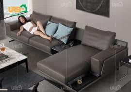 sofa da cho phòng khách