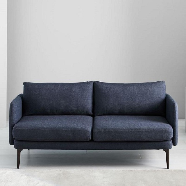 Ghế sofa dài 2 người ngồi màu tím than