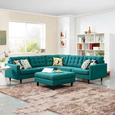 ghế sofa đẹp màu xanh ngọc