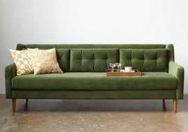 ghế sofa tân cổ điển màu xanh