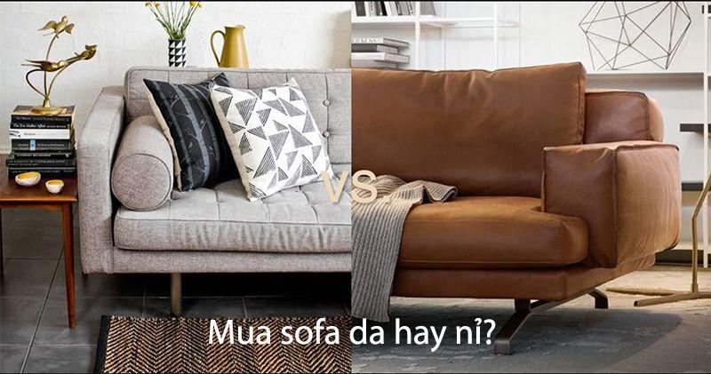 Chọn mua sofa da hay sofa nỉ cho phòng khách gia đình bạn?