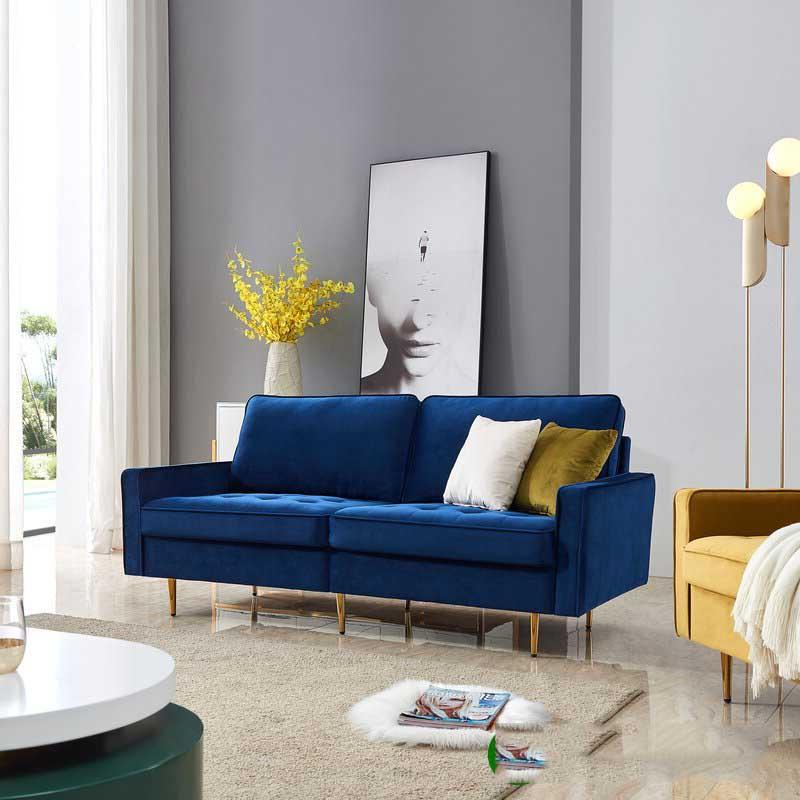 ghế sofa màu xanh coban