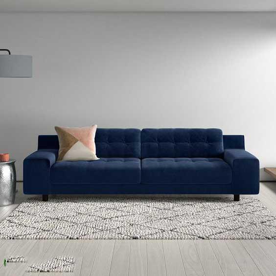 ghế sofa văng màu xanh coban
