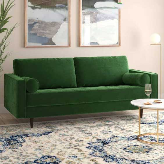 Bộ sưu tập ghế sofa đẹp màu xanh tươi mát 5