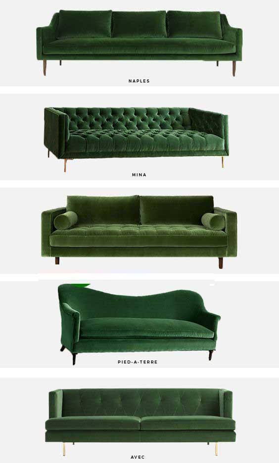 Bộ sưu tập ghế sofa đẹp màu xanh tươi mát 6