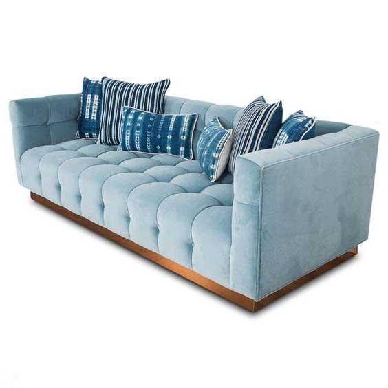 Bộ sưu tập ghế sofa đẹp màu xanh tươi mát 2