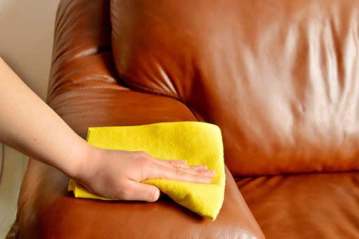 bọc ghế sofa PU dễ lau chùi