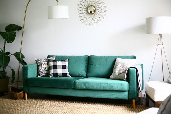 ghế sofa giá rẻ màu xanh
