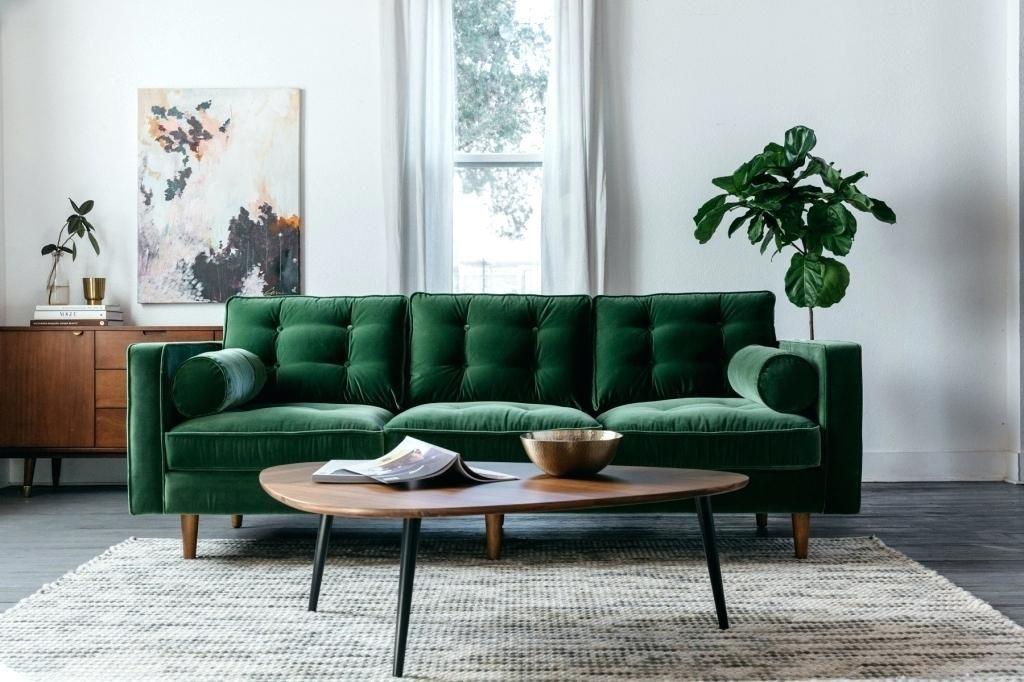 ghế sofa màu xanh lá cây