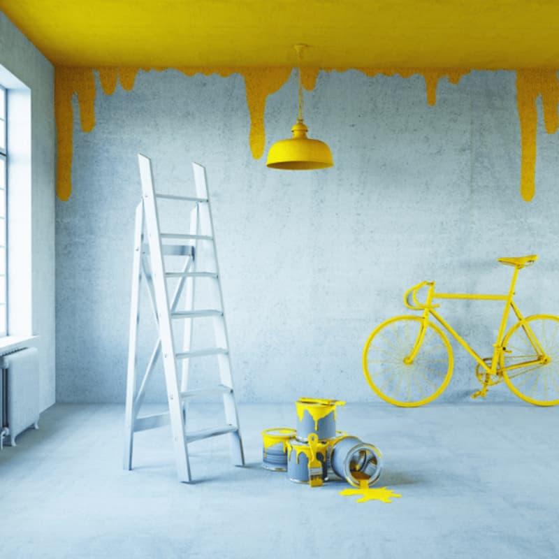 ý tưởng trang trí với sofa- sơn tường