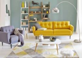 ghế sofa phòng khách giá rẻ màu vàng