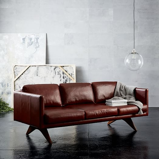 ghế Sofa da West Elm Brooklyn Leather