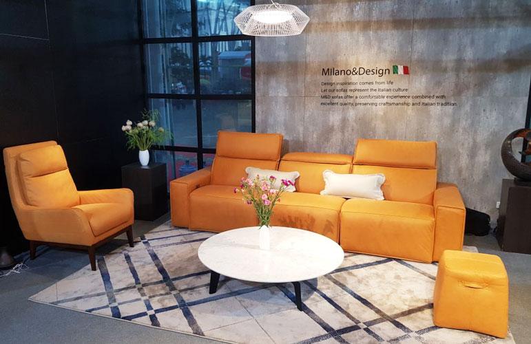 Ghế sofa da Milano&Design – EE87