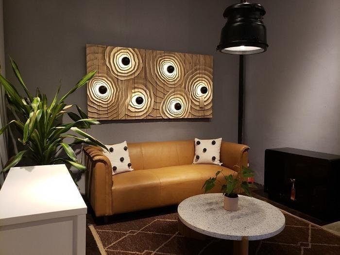ghế sofa da vàng kem