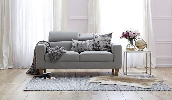 sofa da đẹp màu trung tính