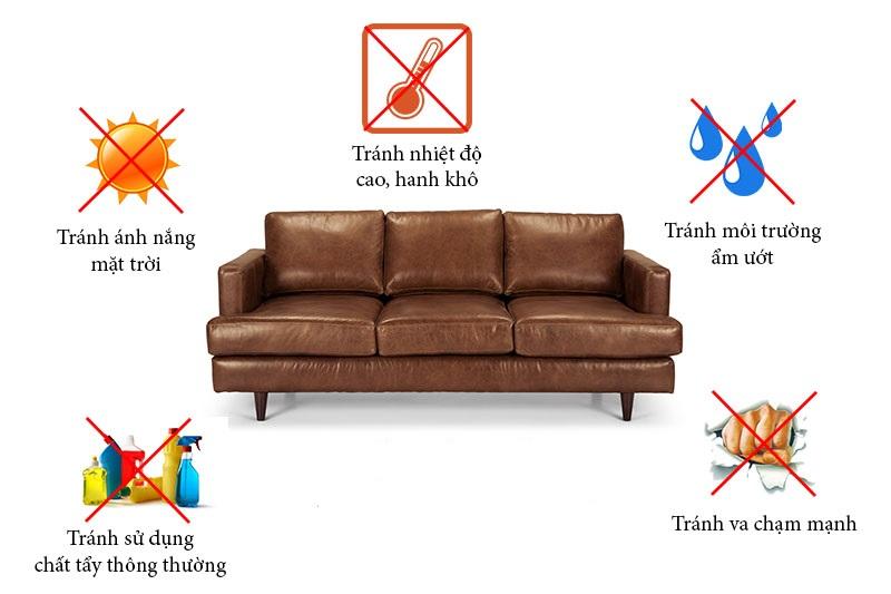 Bảo quản sofa da đúng cách