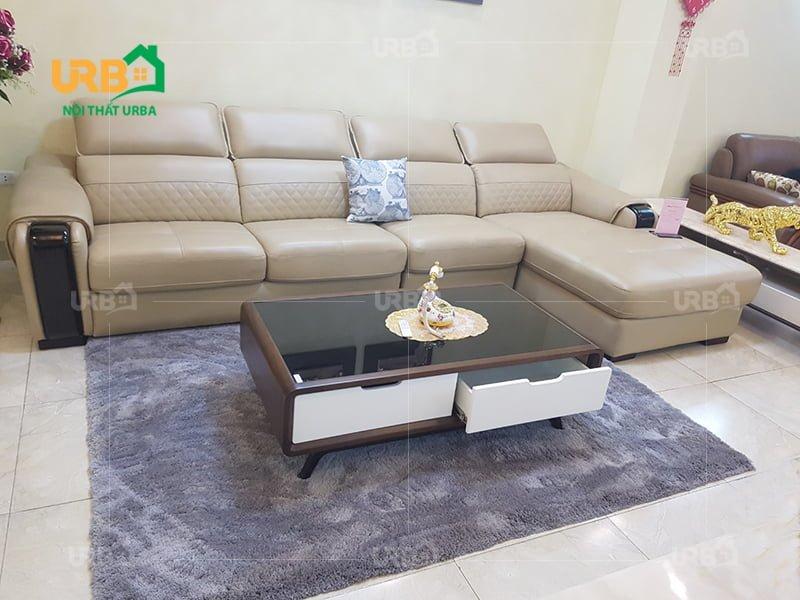 Lựa chọn kích thước phù hợp sao cho tỷ lệ với ghế sofa
