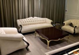 Sofa da đẹp- Giải pháp thông minh cho phòng khách chung cư?