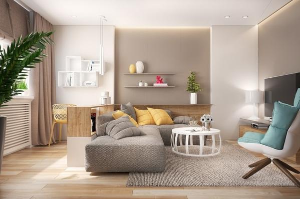 Sofa góc chữ L không có tay vịn