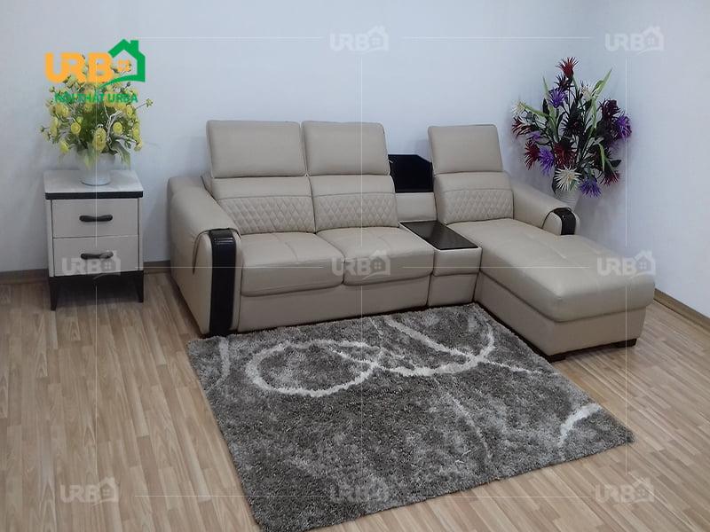 Sắp xếp sofa phòng khách theo chữ i nhỏ gọn