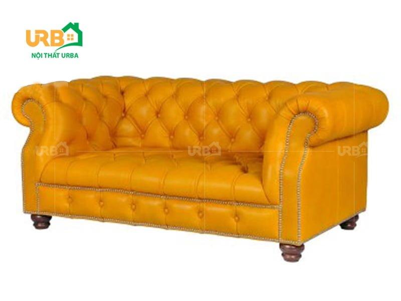 Sofa tân cổ điển giá rẻ màu vàng hót nhất hiện nay