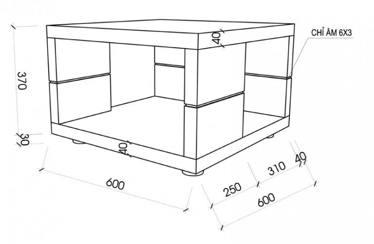 Kích thước bàn trà sofa bao nhiêu là chuẩn nhất? 1