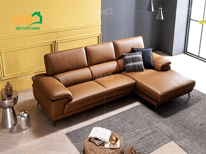 sofa góc đẹp màu nâu